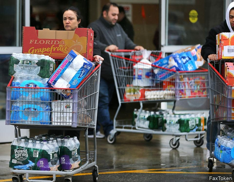 Shoppers Stock Up As Coronavirus Cases Grow